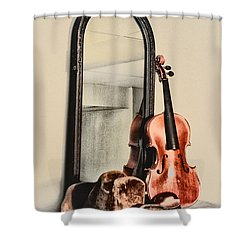 The Cowboys Dresser Shower Curtain by Bill Cannon