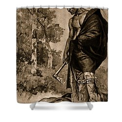The Death Of Pontiac, 1769 Shower Curtain by Photo Researchers
