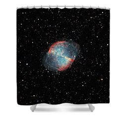 The Dumbbell Nebula Shower Curtain by Rolf Geissinger