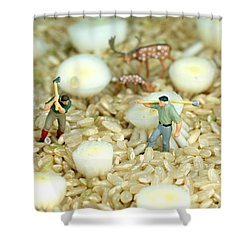 The Earth Is Our Homeland Shower Curtain by Paul Ge