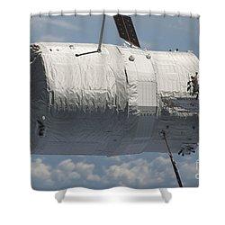 The Edoardo Amaldi Automated Transfer Shower Curtain by Stocktrek Images