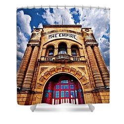The Empire Theatre Shower Curtain by Meirion Matthias