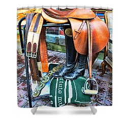 The English Saddle Shower Curtain by Paul Ward