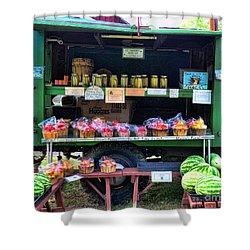 The Farmers Market Shower Curtain by Paul Ward