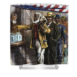 The First Vote, 1867 Shower Curtain by Granger