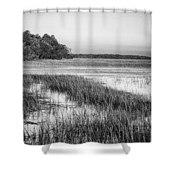 The Flats Shower Curtain by Phill Doherty
