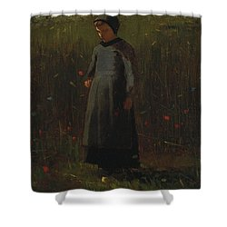 The Flowers Of The Field Shower Curtain by Winslow Homer