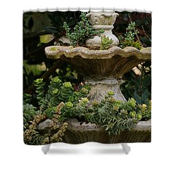 The Fountain Painterly Shower Curtain by Ernie Echols