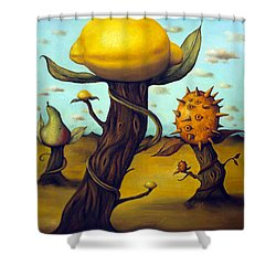 The Fruit Orchard Shower Curtain by Leah Saulnier The Painting Maniac