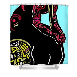 The Game Full Color Shower Curtain by Kamoni Khem