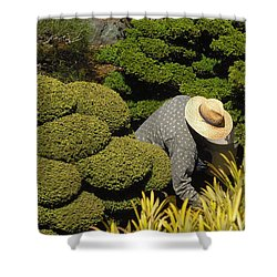 The Gardener Shower Curtain by Richard Reeve