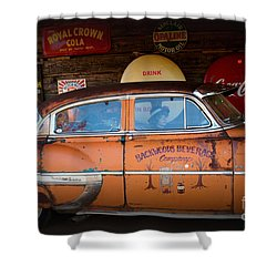 The Getaway Driver Shower Curtain by Benanne Stiens