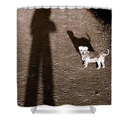 The Giants Companion Shower Curtain by Ed Smith
