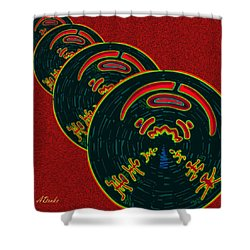 The God Of Fire Family Tree Shower Curtain by Alec Drake