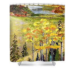 The Gore Range Shower Curtain by Saundra Lane Galloway