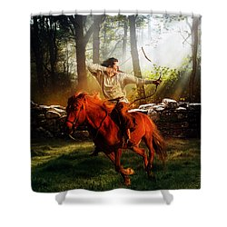 The Hunter Shower Curtain by Mary Hood