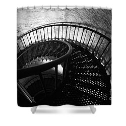 The Keeper's Flight Shower Curtain by Tony Cooper