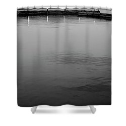 The Lake At Dusk Shower Curtain by David Patterson