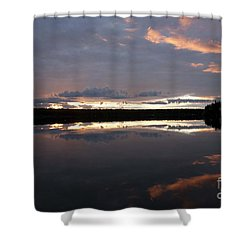 The Last Glow Shower Curtain by Heiko Koehrer-Wagner