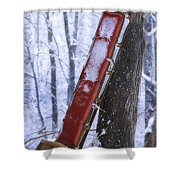 The Last Ride Shower Curtain by Ron Jones