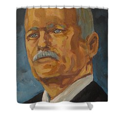 The Late Honorable Jack Layton Shower Curtain by John Malone