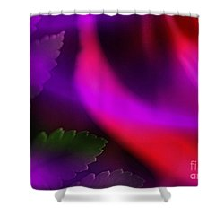 The Leaf And The Rose Shower Curtain by Judi Bagwell