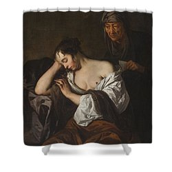 The Letter Shower Curtain by Sir Peter Lely