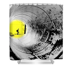The Light At The End Of The Tunnel Shower Curtain by Valentino Visentini