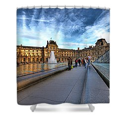 The Louvre Paris Shower Curtain by Charuhas Images