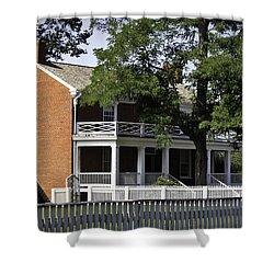 The Mclean House In Appomattox Virgina Shower Curtain by Teresa Mucha