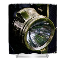 The Old Brass Ford Headlight Shower Curtain by Steve McKinzie