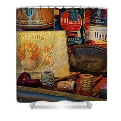 The Old Smoke Shop Shower Curtain by Dave Mills