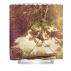 The Old Swing Shower Curtain by Susan Bordelon