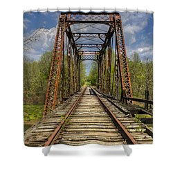 The Old Trestle Shower Curtain by Debra and Dave Vanderlaan