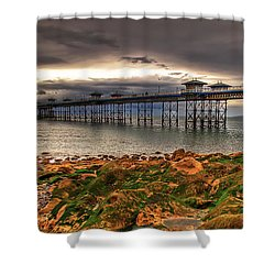 The Pier Shower Curtain by Adrian Evans