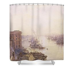 The Pool From The Adelaide Hotel London Bridge Shower Curtain by William Wyld
