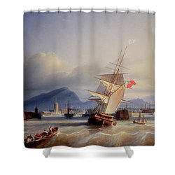 The Port Of Leith Shower Curtain by Paul Jean Clays