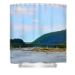 The Potomic River West Virginia Shower Curtain by Bill Cannon