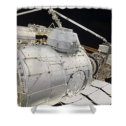 The Pressurized Mating Adapter 3 Shower Curtain by Stocktrek Images