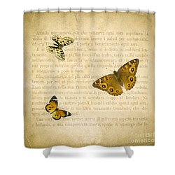 The Printed Page 1 Shower Curtain by Jan Bickerton