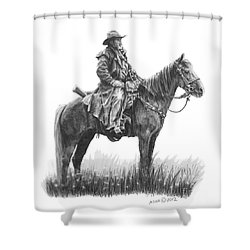 the Quest Shower Curtain by Marianne NANA Betts