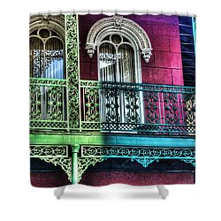 The Railing Shower Curtain by Michael Thomas