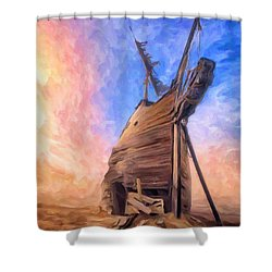 The Ravages Of Time Shower Curtain by Dominic Piperata