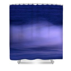 The Red Moon And The Sea Shower Curtain by Hannes Cmarits