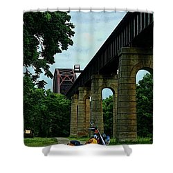 The Ride Shower Curtain by Tommy Anderson
