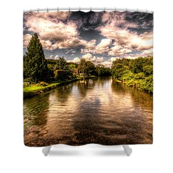 The River Exe At Bickleigh Shower Curtain by Rob Hawkins