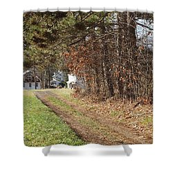 The Road To Redemtion Shower Curtain by Robert Margetts