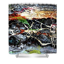 The Rock Shower Curtain by Jerry Cordeiro