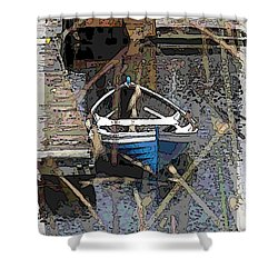 The Rowboat Shower Curtain by Tim Allen