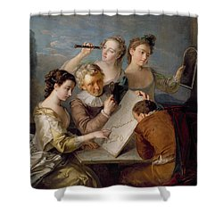 The Sense Of Sight Shower Curtain by Philippe Mercier